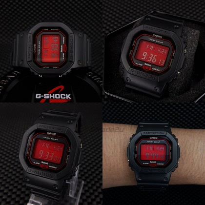 Casio G-Shock Men GW-B5600AR-1D GW-B5600AR-1 GWB5600AR-1D Digital Petak AR Bluetooth Tough Solar Watch Red Black Resin Band G Shock . watch for man . jam tangan lelaki . casio watch for men . casio watch . men watch . watch for men [READY STOCK]