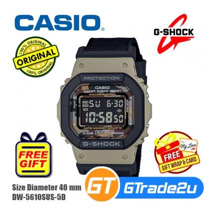 Casio G-Shock Men DW-5610SUS-5D DW5610SUS-5D DW-5610SUS-5 Digital Desert Camouflage Watch Brown Resin Black Cloth Band G Shock . watch for man . jam tangan lelaki . casio watch for men . casio watch . men watch . watch for men [READY STOCK]