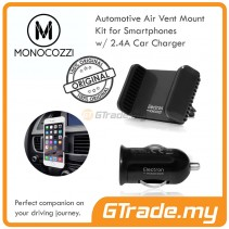 MONOCOZZI Automotive | Air Vent Car Mount holder Kit  for Smartphones w/2.4A Car Charger