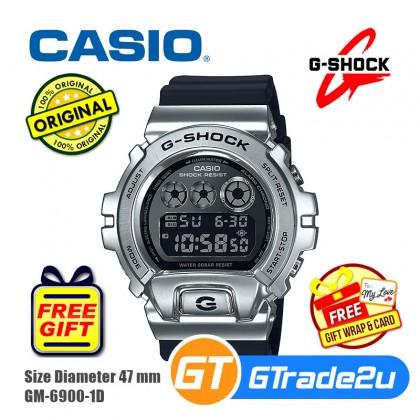 Casio G-Shock Men GM-6900-1D GM-6900-1 GM6900-1D Digital Metal Covered Bezel Watch Silver Black Resin Band G Shock . watch for man . jam tangan lelaki . casio watch for men . casio watch . men watch . watch for men [READY STOCK]