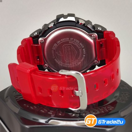 Casio G-Shock Men GM-6900B-4D GM-6900B-4 GM6900B-4D Digital Metal Bezel Merah Watch Red Black Resin Band G Shock . watch for man . jam tangan lelaki . casio watch for men . casio watch . men watch . watch for men [READY STOCK]