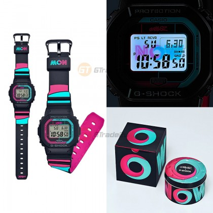 Casio G-Shock Men GW-B5600GZ-1D GW-B5600GZ-1 GWB5600GZ-1D Digital Petak Gorillaz Now Collaboration Watch Pink Blue Black Green Resin Band G Shock . watch for man . jam tangan lelaki . casio watch for men . casio watch .  watch for men [READY STOCK]