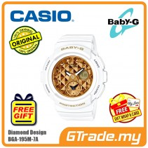 CASIO Ladies BABY-G BGA-195M-7A Watch | Diamond Design Style