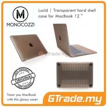 "MONOCOZZI Transparent Hard Shell Cover Case Apple Macbook 12"" Black"