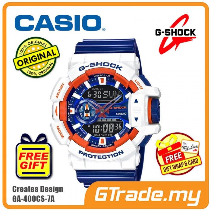 bf8ba0965a8d8 CASIO G-SHOCK GA-400CS-7A Analog Digital Watch