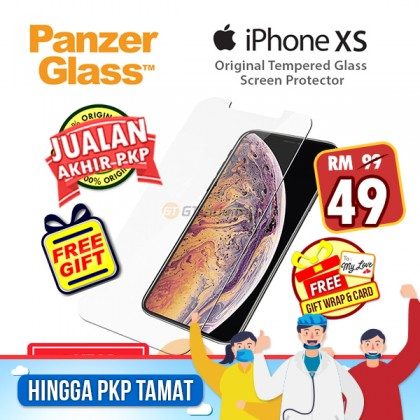 [MCO SALE] PanzerGlass Original Tempered Glass Screen Proctector Apple iPhone Xs X *Free Gift
