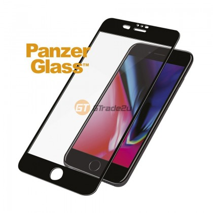 [MCO SALE] PanzerGlass Full Cover 3D Tempered Glass Screen Proctector Black Apple iPhone 8 7 6s Plus *Free Gift