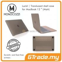 MONOCOZZI Transparent Shell Cover Case Matte Apple Macbook 12' Black