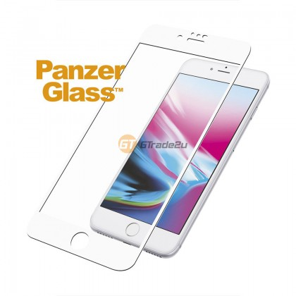 [MCO SALE] PanzerGlass Full Cover 3D Tempered Glass Screen Proctector White Apple iPhone 8 7 6s *Free Gift