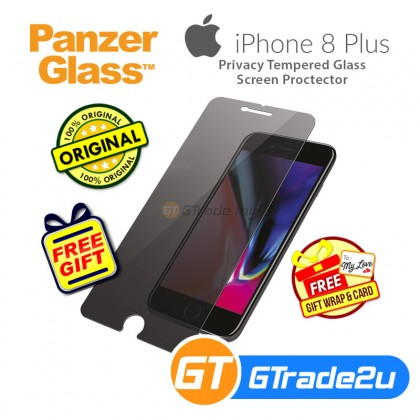 [MCO SALE] PanzerGlass Privacy Tempered Glass Screen Proctector Apple iPhone 8 7 6s Plus *Free Gift