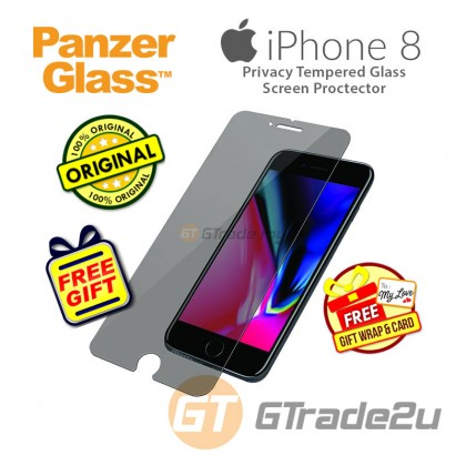 [MCO SALE] PanzerGlass Privacy Tempered Glass Screen Proctector Apple iPhone 8 7 6s *Free Gift