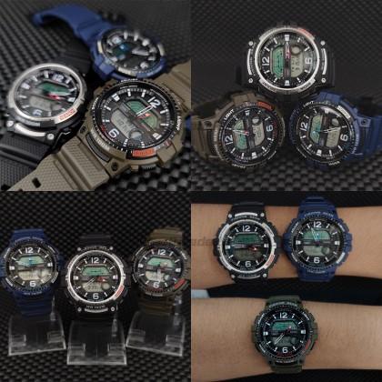 Casio OutGear Men WSC-1250H-2A WSC-1250H-2 WSC1250H-2A Analog Digital Fishing Gear Watch Blue Resin Band watch for man . jam tangan lelaki . casio watch for men . casio watch . men watch . watch for men [READY STOCK]