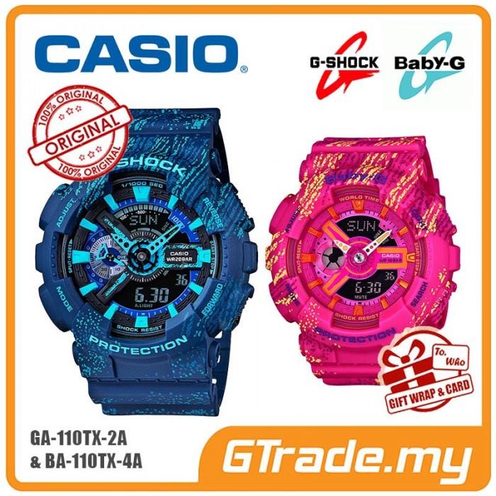 212df60de1c8 CASIO G-SHOCK BABY-G GA-110TX-2A BA-110TX-4A Couple Watch Mist Design