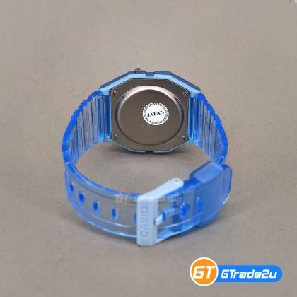 Casio Stardard Men F-91WS-2D F91WS-2D F-91WS-2 Digital Jelly Semi Transparent Watch Blue Resin Band watch for man . jam tangan lelaki . casio watch for men . casio watch . men watch . watch for men [READY STOCK]