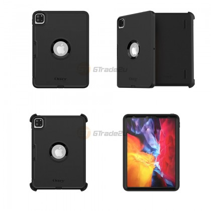 """Otterbox Defender Rugged Protect Case Apple iPad Pro 11"""" 2nd 1st Gen. 2 1 Black *Free Gift"""