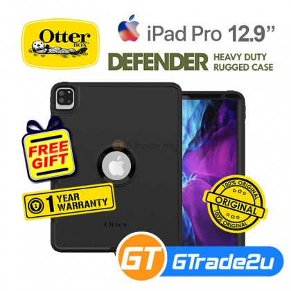 "Otterbox Defender Rugged Protect Case Apple iPad Pro 12.9"" 4th 3rd Gen. 4 3 Black *Free Gift"