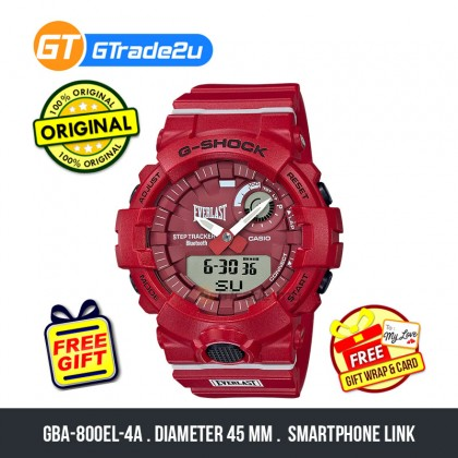 Casio G-Shock Men GBA-800EL-4A GBA-800EL-4 GBA800EL-4A Digital Everlast Collab. G-Squad Watch Red White Resin Band G Shock . watch for man . jam tangan lelaki . casio watch for men . casio watch . men watch . watch for men [READY STOCK]