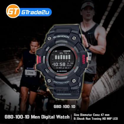 Casio G-Shock Men GBD-100-1D GBD-100-1 GBD100-1D Digital Run Traning HD MIP LCD Watch Red Black Resin Band G Shock . watch for man . jam tangan lelaki . casio watch for men . casio watch . men watch . watch for men [READY STOCK]