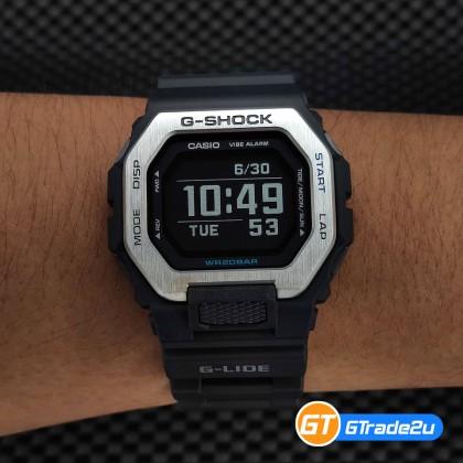 Casio G-Shock Men GBX-100-1D GBX-100-1 GBX100-1D Digital Bluetooth MIP LCD G-Lide Watch Black Resin Band G Shock . watch for man . jam tangan lelaki . casio watch for men . casio watch . men watch . watch for men [READY STOCK]