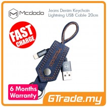 MCDODO Sync Charger Jeans Denim Keychain USB Lightning Cable 0.2M