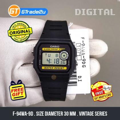 Casio Standard Men F-94WA-9D F94WA-9D Digital Watch Black Black Resin Band watch for man . jam tangan lelaki . men watch . watch for men .   casio watch for men . casio watch Ready Stock