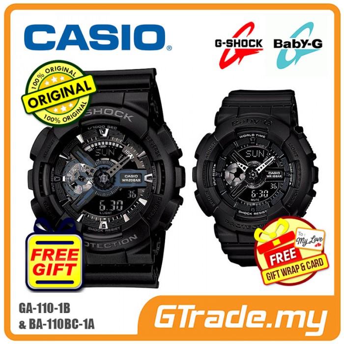 Ready Stock Casio G Shock Baby G Ga 110 1b Ba 110bc 1a Couple Watch