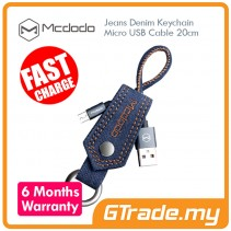 MCDODO Sync Charge Jeans Denim Keychain Micro USB Data Cable 20CM