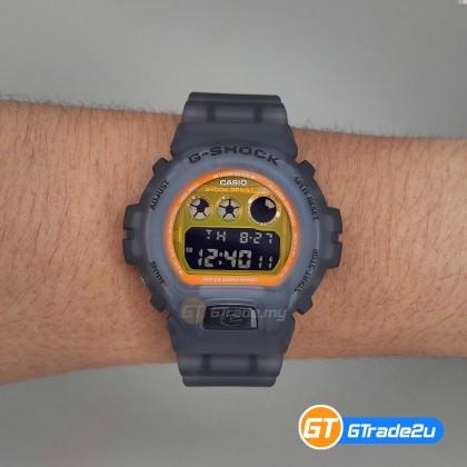 Casio G-Shock Men DW-6900LS-1D DW-6900LS-1 DW6900LS-1D Digital LS Jelly Bulat Tomyam Watch Orange Black Resin Band G Shock . watch for man . jam tangan lelaki . casio watch for men . casio watch . men watch . watch for men [READY STOCK]
