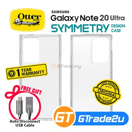 Otterbox Symmetry Clear Slim Tough Case Samsung Galaxy Note 20 Ultra 5G *Free Gift