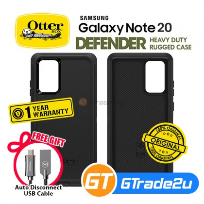 Otterbox Defender Rugged Tough Case Samsung Galaxy Note 20 5G Black *Free Gift