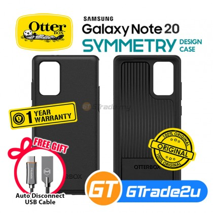 Otterbox Symmetry Slim Tough Case Samsung Galaxy Note 20 5G Black *Free Gift