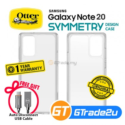 Otterbox Symmetry Clear Slim Tough Case Samsung Galaxy Note 20 *Free Gift
