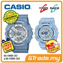 CASIO G-SHOCK BABY-G GA-110DC-2A7 BA-110DC-2A3 Couple Watch Denim Jeans