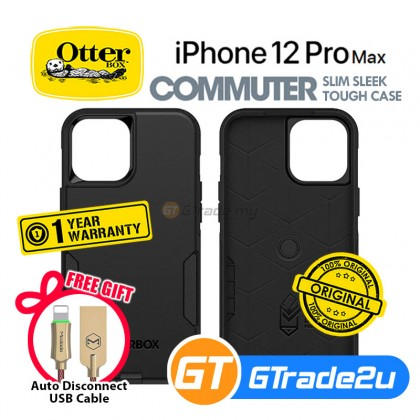 Otterbox Commuter Double Layer Tough Case Apple iPhone 12 Pro Max Black *Free Gift