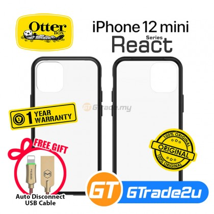 Otterbox React  Slim Soft Tough Case Apple iPhone 12 Mini *Free Gift