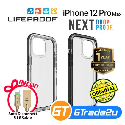 Lifeproof Next Shield Case Iphone 12 Pro Max Black Crystal *Free Gift