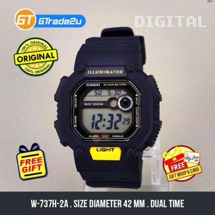 Casio Stardard Men W-737H-2A W-737H-2 W737H-2A Digital Watch Blue Resin Band watch for man . jam tangan lelaki . casio watch for men . casio watch . men watch . watch for men