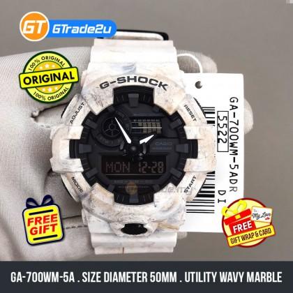 Casio G-Shock Men GA-700WM-5A GA700WM-5A Analog Digital GA700 Marble Watch Resin Band G Shock . watch for man . jam tangan lelaki . casio watch for men . casio watch . men watch . watch for men [READY STOCK]