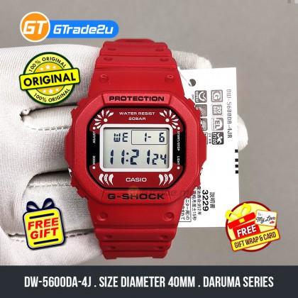 Casio G-Shock Men DW-5600DA-4J DW5600DA-4J Digital Petak Daruma Japan Set Watch Red Resin Band G Shock . watch for man . jam tangan lelaki . casio watch for men . casio watch . men watch . watch for men [READY STOCK]