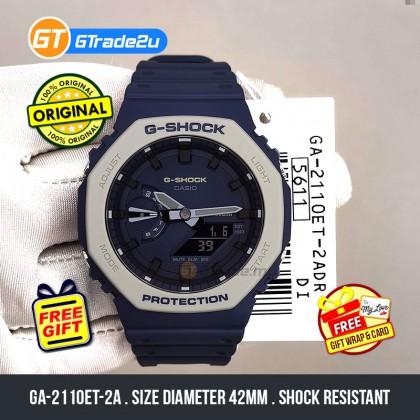 Casio G-Shock Men GA-2110ET-2A GA2110ET-2A Analog Digital TMJ Earth Tone Watch Blue Resin Band G Shock . watch for man . jam tangan lelaki . casio watch for men . casio watch . men watch . watch for men [READY STOCK]