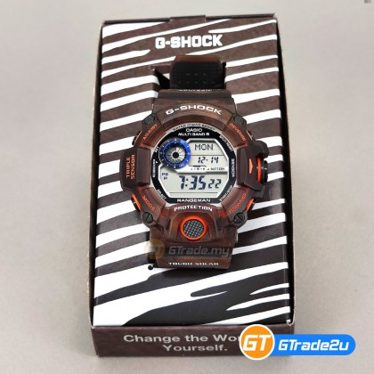 Casio G-Shock Men GW-9405KJ-5J GW9405KJ-5J Digital Rangeman OKAPI Carbon Fiber Watch Zebra Brown Resin Band G Shock . watch for man . jam tangan lelaki . casio watch for men . casio watch . men watch . watch for men [READY STOCK]