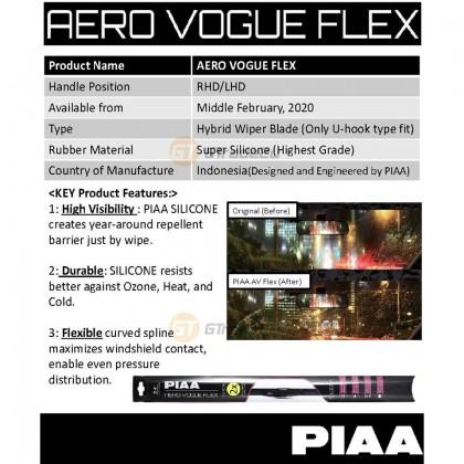 """PIAA Aero Vogue Flex Durable Car Silicone Windshield Wiper Blade All Size 14"""" - 28"""""""