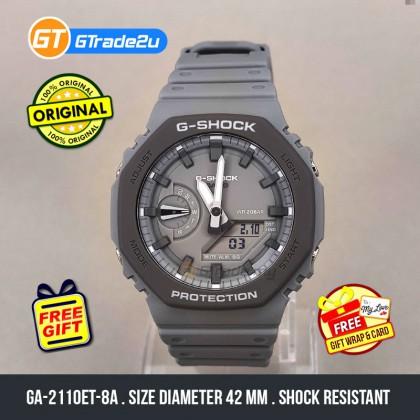 Casio G-Shock Men GA-2110ET-8A GA2110ET-8A Analog Digital TMJ Earth Tone Watch Grey Resin Band G Shock . watch for man . jam tangan lelaki . casio watch for men . casio watch . men watch . watch for men [READY STOCK]