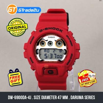 Casio G-Shock Men DW-6900DA-4J DW6900DA-4J Digital Bulat Daruma Japan Set Watch Red Resin Band G Shock . watch for man . jam tangan lelaki . casio watch for men . casio watch . men watch . watch for men [READY STOCK]