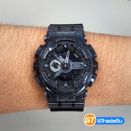 Casio G-Shock Men GA-110SKE-8A GA110SKE-8A Analog Digital GA110 SK Watch Black Resin Band G Shock . watch for man . jam tangan lelaki . casio watch for men . jam g shock original gshock watch . jam tangan g shock watch [READY STOCK]
