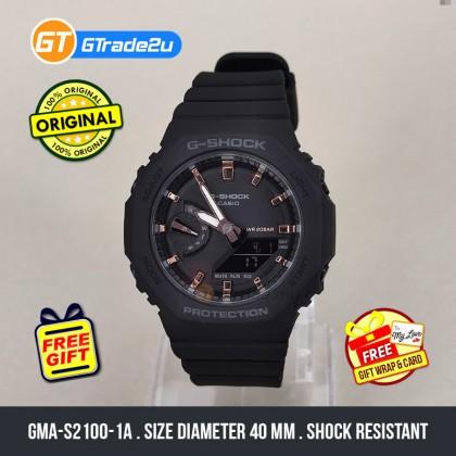 Casio G-Shock Mini Women Ladies GMA-S2100-1A GMAS2100-1A Analog Digital TMJ Wanita Watch Black Resin Band G Shock . watch for man . jam tangan lelaki . casio watch for men . casio watch . men watch . watch for men [READY STOCK]