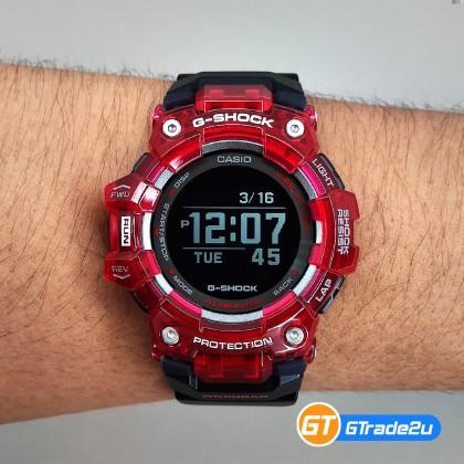 Casio G-Shock Men GBD-100SM-4A1J GBD100SM-4A1J Digital Run Traning HD MIP LCD Watch Black Resin Band G Shock . watch for man . jam tangan lelaki . casio watch for men . casio watch . men watch . watch for men [READY STOCK]