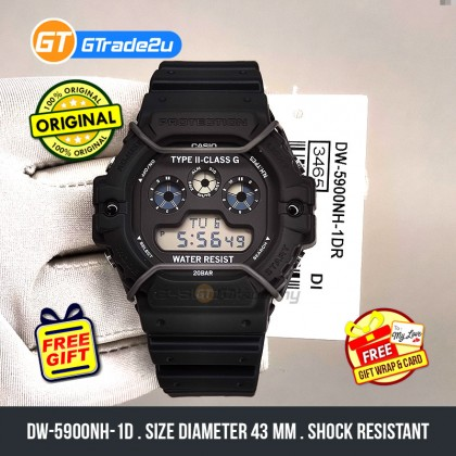 Casio G-Shock Men DW-5900NH-1D DW-5900NH-1 DW5900NH-1D Digital Tapak Kucing N.Hoolywood Watch Green Red Gold Black Resin Band G Shock . watch for man . jam tangan lelaki . casio watch for men . casio watch . men watch . watch for men [READY STOCK]