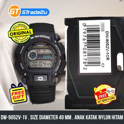 Casio G-Shock Men DW-9052V-1V DW-9052V-1 DW9052V-1V Digital Anak Katak Nylon Hitam Watch Black Resin Band G Shock . watch for man . jam tangan lelaki . casio watch for men . casio watch . men watch . watch for men [READY STOCK]