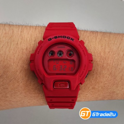 Casio G-Shock Men DW-6935C-4D DW6935C-4D DW-6935C-4 Digital 35th Anniversary Red Out Watch Red Resin Band G Shock . watch for man . jam tangan lelaki . casio watch for men . casio watch . men watch . watch for men [READY STOCK]